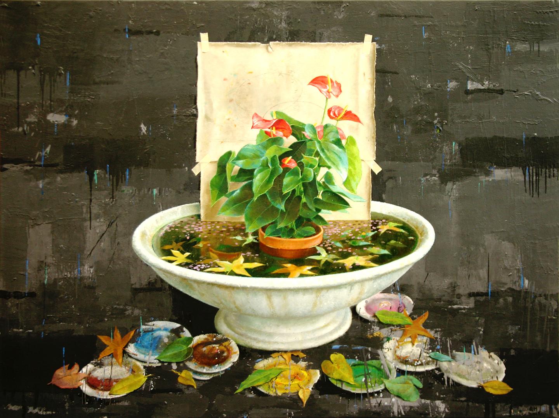 pintura al óleo del artista plástico Manuel Quintana Martelo, realizada en el año 2000.