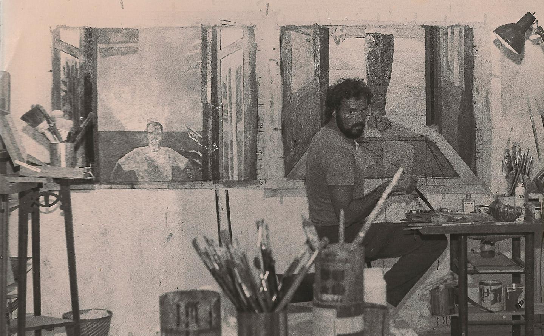Fotografía en el estudio del artista.