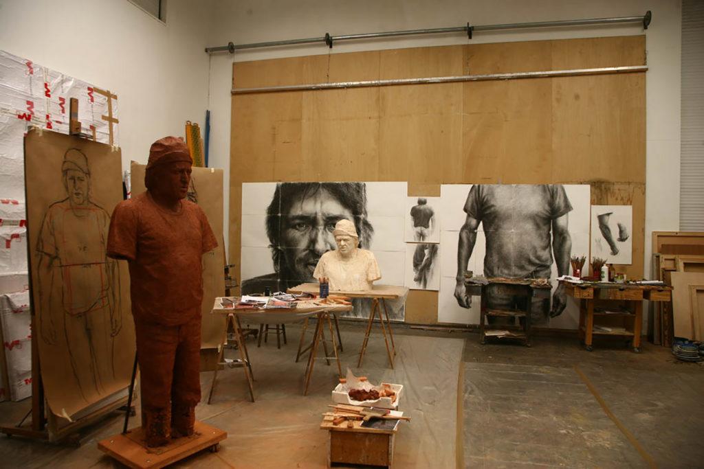 Molde para escultura del artista plástico Manuel Quintana Martelo.