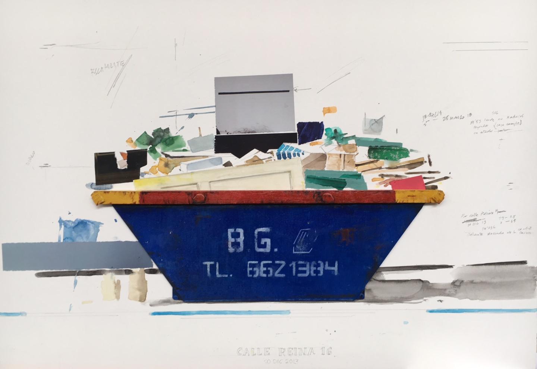 El artista Quintana Martelo, realiza un nuevo trabajo para su serie Containers, llamado Compendio.