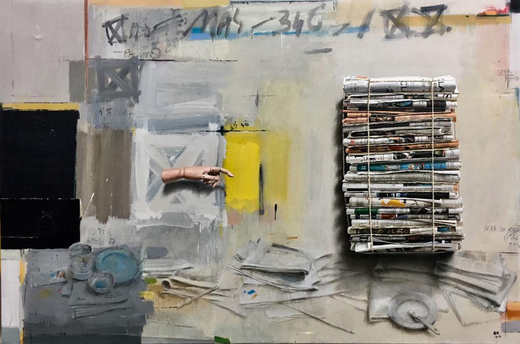 Óleo realizado entre el 2016 y 2017, por el artista plástico Quintana Martelo, terminada en su estudio en Madrid.