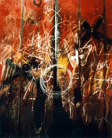 Óleo sobre tela del artista plástico Manuel Quintana Martelo,realizado en el año 1971.