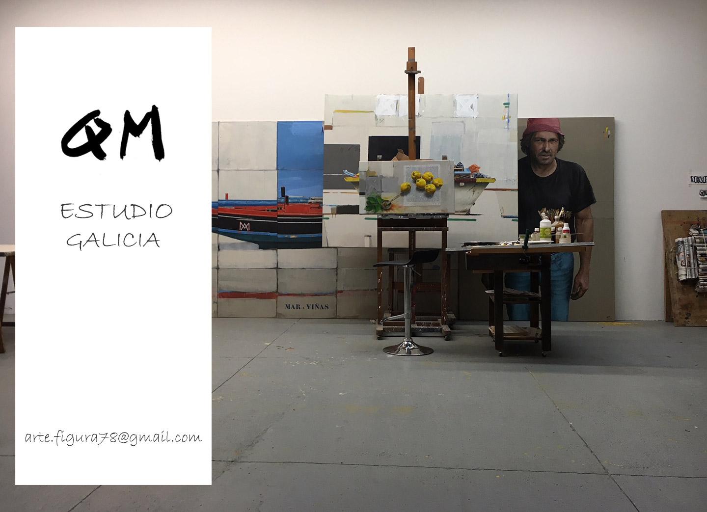 Imagen del estudio de Mnauel Quintana Martelo en Galicia.