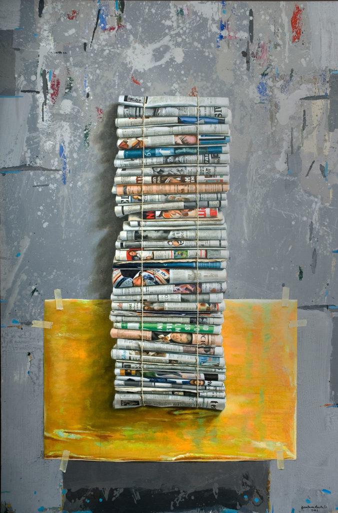 Manuel Quintana Martelo columna óleos cuadros pintura