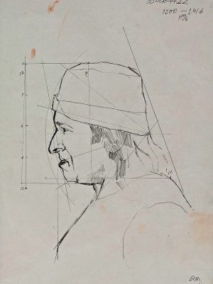 Dibujo realizado a lápiz, por el pintor Manuel Quintana Martelo.