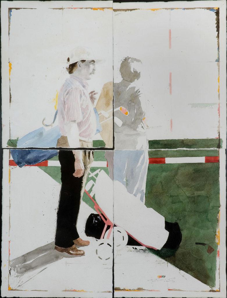 Quintana Martelo, en los años 80, pintor compostelano.