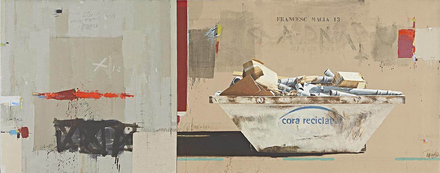 Manuel Quintana Martelo, obra reciente, pertenece a la serie Containers.