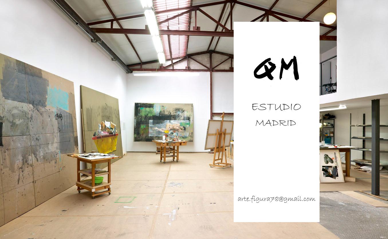 Imagen del interior del estudio, del artista plástico, en Madrid.